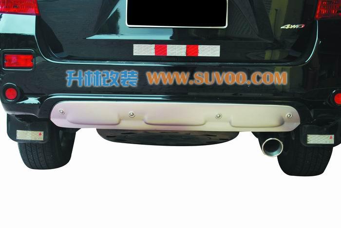 汉兰达合金后挡板,专车设计,弧度完全吻合车身,简约装饰,保护尾高清图片